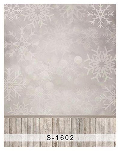 Winter Snow Flower Snowflake Wood Floor Photography Studio Backdrop Background