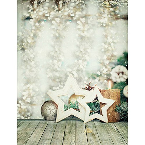 White Star Winter Candle Pure Photography Studio Backdrop Background