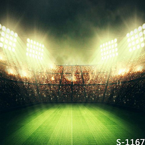 Soccer Football Field Pitch Yellow Light Photography Studio Backdrop Background
