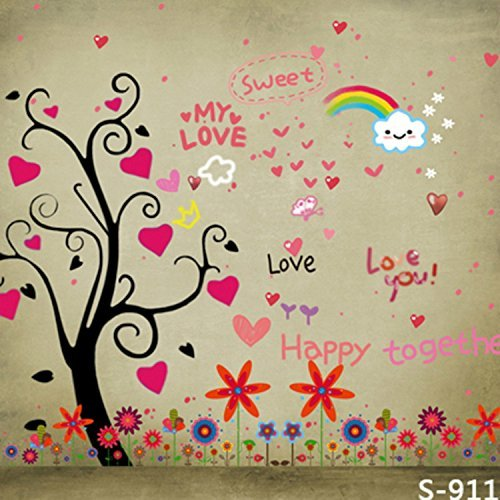 Baby Cartoon Art Rainbow Love Photography Studio Backdrop Background