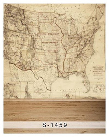 US America Map Territory Photography Studio Backdrop Background
