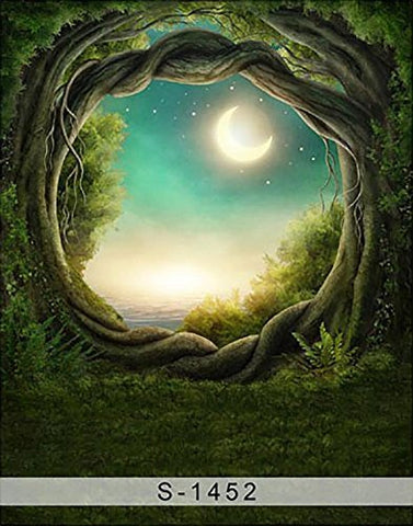 Tree Hole Moon Fairy Photography Studio Backdrop Background