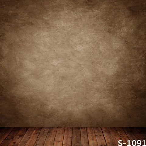 Old Master Solid Brown Portrait Wood Photography Studio Backdrop Background