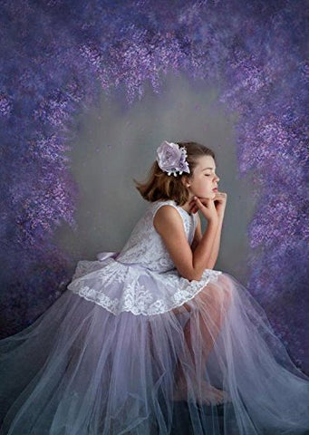 Fairy Purple lavender Circular Flower Hole Photography Studio Backdrop Background