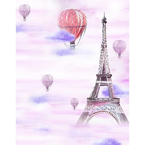 Art Eiffel Tower Ballons Photography Studio Backdrop Background