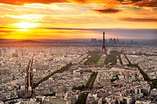 Paris Sunset Landscape Photography Studio Backdrop Background
