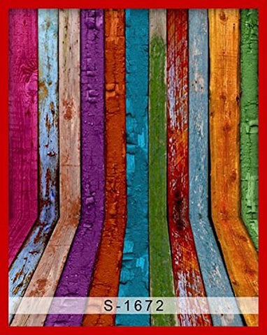 Colorful Paint Wood Wall Floor Photography Studio Backdrop Background