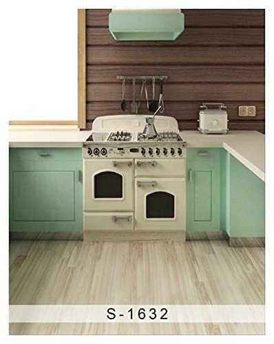Old Retro Kitchen Wood Floor Photography Studio Backdrop Background