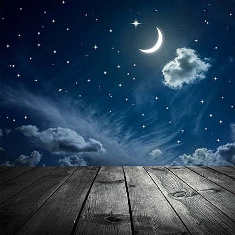 Blue Moonnight Star Wood Floor Photography Studio Backdrop Background