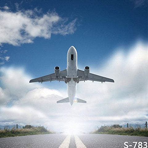 Take Off Plane Airplane Photography Studio Backdrop Background
