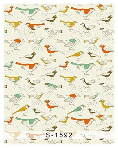 Colorful Birds Pattern Photography Studio Backdrop Background