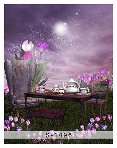 Star Light Tulip Teapot Table Photography Studio Backdrop Background