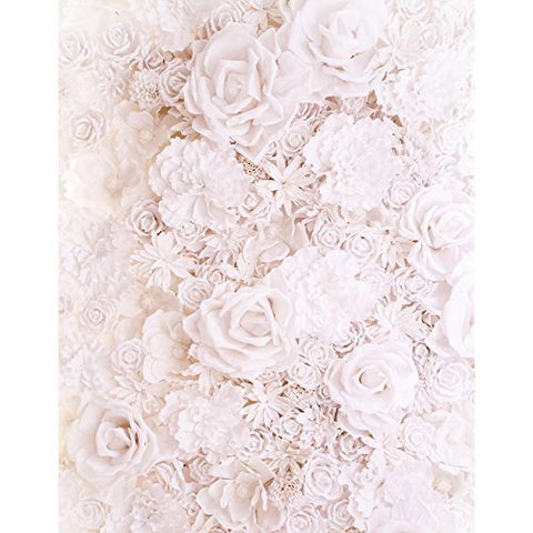 White Pink Flower Pure Rose Photography Studio Backdrop Background