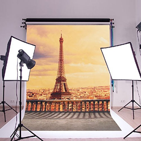 Paris Eiffel Tower Photography Studio Backdrop Background