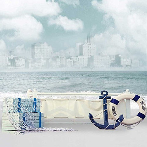 Nautical Anchor Sailor Lifebuoy Life Ring Paddle Photography Studio Backdrop Background