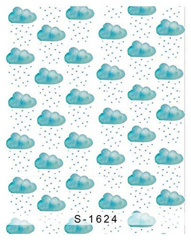 Blue Cloud Raindrop Photography Studio Backdrop Background