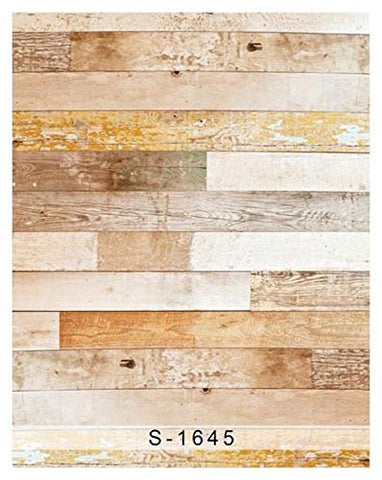 Horizontal Wide Wood Wall Floor Photography Studio Backdrop Background