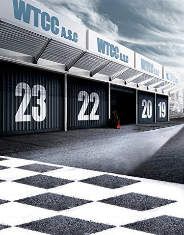 Racing Car Speed Field Photography Studio Backdrop Background