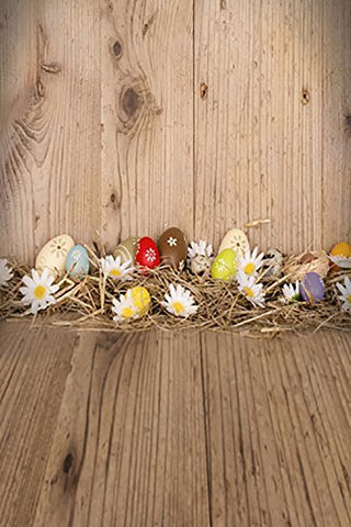 Easter Day Eggs Wood Floor Photography Studio Backdrop Background
