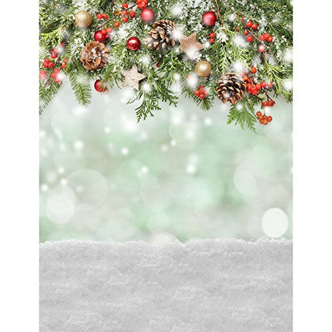 Christmas Xmas Snow Winter Photography Studio Backdrop Background