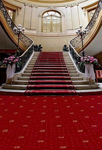 5x7FT Red Carpet Stairs Photography Backdrop Customized Photo Background Studio Prop RM-002