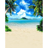 Beach Seaside Sun Palm Tree Island Photography Studio Backdrop Background