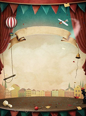 Cartoon Circus Stage Curtain Photography Studio Backdrop Background