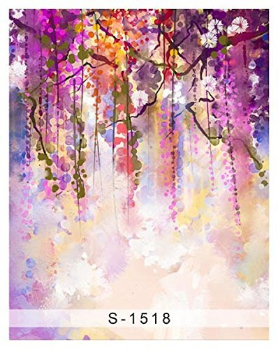Abstract Colorful Tree Branch Photography Studio Backdrop Background