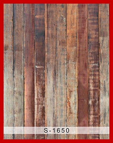 Vertical Wide Brown Wood Wall Floor Photography Studio Backdrop Background