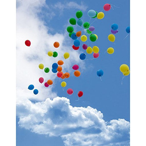 Blue Sky Colorful Balloons Free Photography Studio Backdrop Background