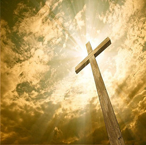 Christian Jesus Prayer Cross Photography Studio Backdrop Background