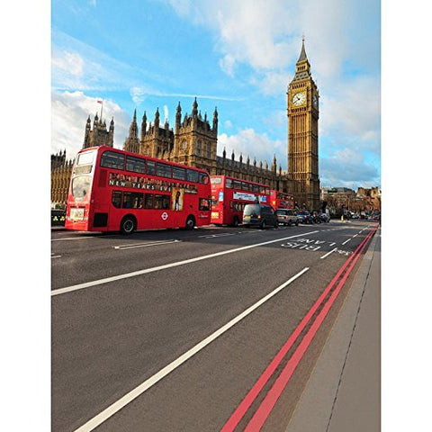 London Big Ben Double-deck Bus Photography Studio Backdrop Background
