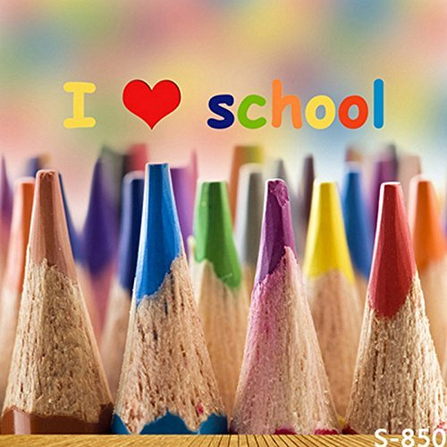 Love Back to School Colored Kids Crayon Pencil Photography Studio Backdrop Background