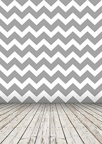 Gray Zigzag Wave Wood Floor Photography Studio Backdrop Prop Background