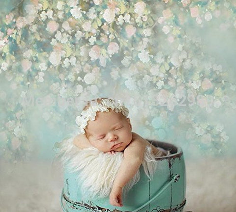 New Born Floral Photography Studio Backdrop Background