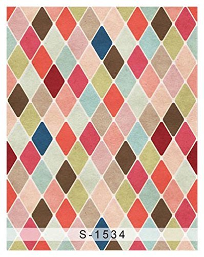 Colorful Chevron Retro Rhombus Photography Studio Backdrop Background