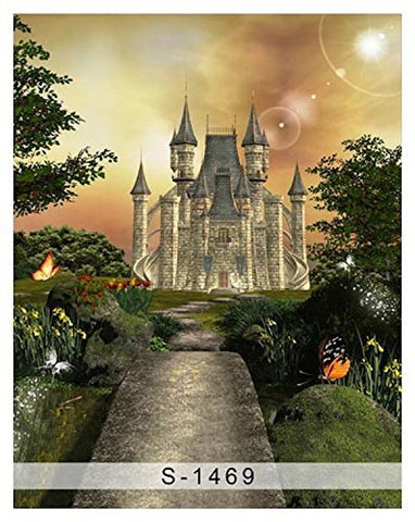 Fairy Tale Night Medieval Castle Photography Studio Backdrop Background