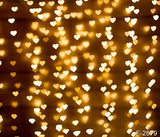 Gold Glitter Heart Photography Studio Backdrop Background