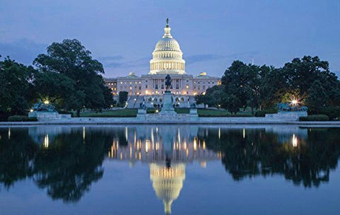 US Washington Capitol Night Photography Studio Backdrop Background
