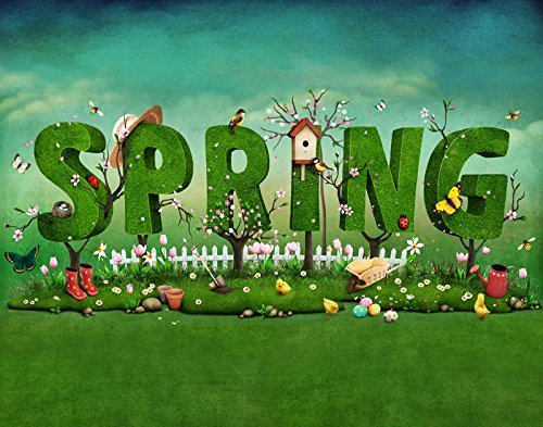 Spring Children Grass Garden Photography Studio Backdrop Background