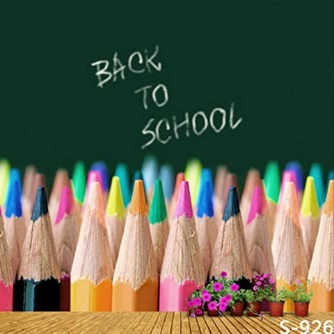 Crayon Color Pencil Back to School Photography Studio Backdrop Background