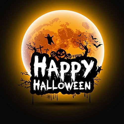 Happy Halloween Hallowmas Moon Photography Studio Backdrop Background