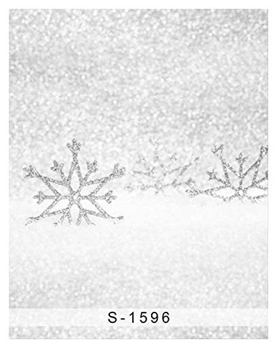 Winter White Snow Flower Photography Studio Backdrop Background