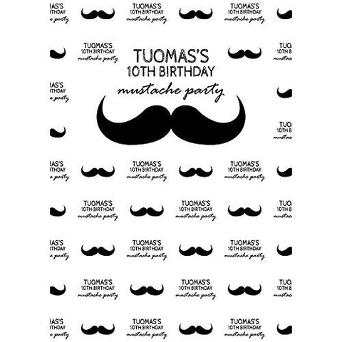 Mustache Party Birthday Photography Studio Backdrop Background
