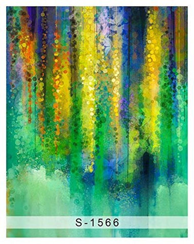 Abstract Green Yellow Oil Painting Photography Studio Backdrop Background