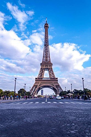 Paris Eiffel Tower Blue Sky Photography Studio Backdrop Background