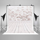 White Rose Flowers Romantic Photography Studio Backdrop Prop Background