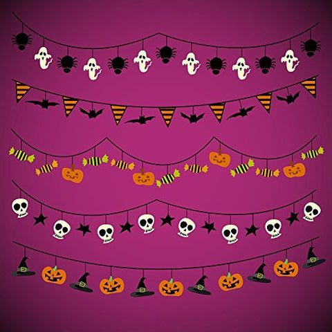 Halloween Hallowmas Pumpkin Skull Flags Photography Studio Backdrop Background