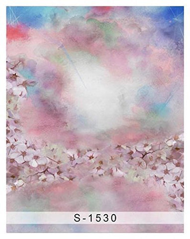 Colourful Small Flowers Cloud Photography Studio Backdrop Background