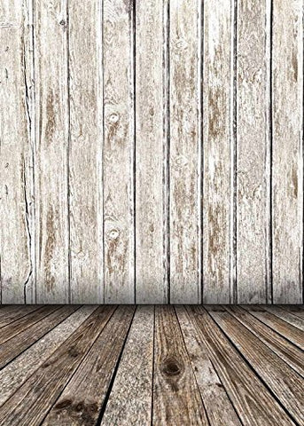 Solid Gray Wood Floor Wall Photography Studio Backdrop Prop Background